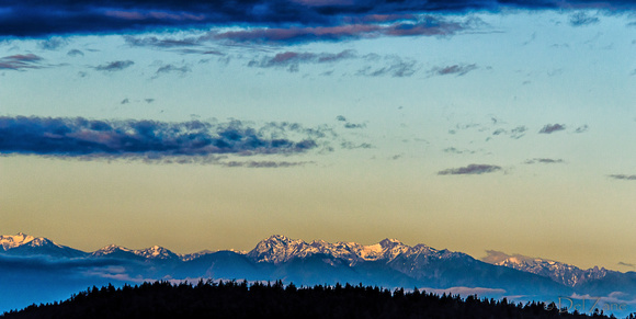 Sunrise over the Olympic Mountains-7