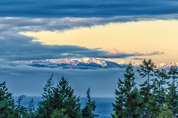 Sunrise over the Olympic Mountains-2