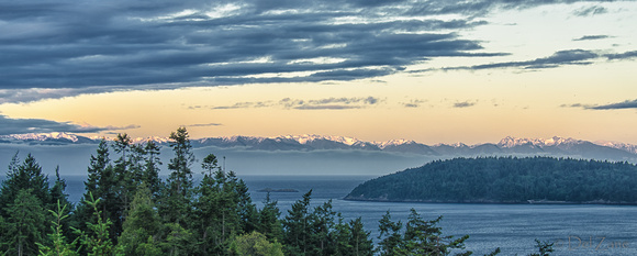 Sunrise over the Olympic Mountains-1